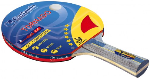 Garlando Tornado 6 Star Table Tennis Paddle