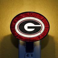 Georgia Bulldogs NCAA Stained Glass Night Light