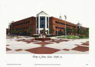 George Mason Patriots Campus Images Lithograph
