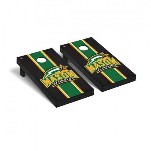 George Mason Patriots Onyx Stained Cornhole Game Set