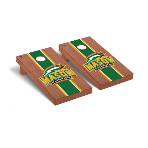 George Mason Patriots Rosewood Stained Cornhole Game Set