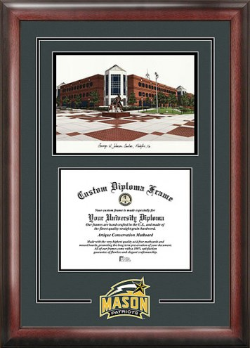 George Mason Patriots Spirit Diploma Frame with Campus Image