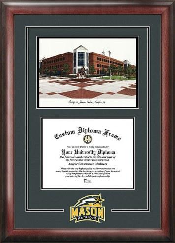George Mason Patriots Spirit Diploma Frame with Campus Image
