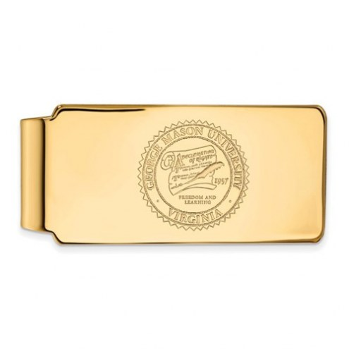 George Mason Patriots Sterling Silver Gold Plated Crest Money Clip