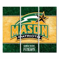 George Mason Patriots Triptych Double Border Canvas Wall Art