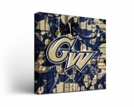 George Washington Colonials Fight Song Canvas Wall Art