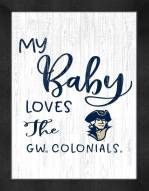 George Washington Colonials My Baby Loves Framed Print
