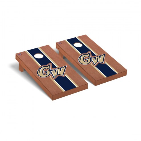 George Washington Colonials Rosewood Stained Stripe Cornhole Game Set