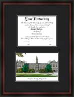 Georgetown University Diplomate Framed Lithograph with Diploma Opening