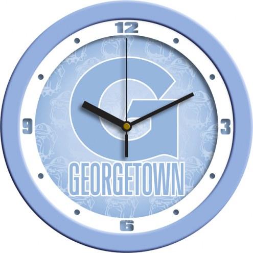 Georgetown Hoyas Baby Blue Wall Clock