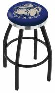Georgetown Hoyas Black Swivel Barstool with Chrome Accent Ring