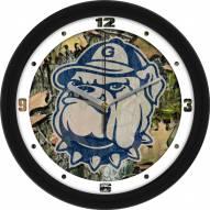 Georgetown Hoyas Camo Wall Clock