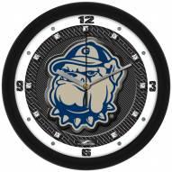 Georgetown Hoyas Carbon Fiber Wall Clock