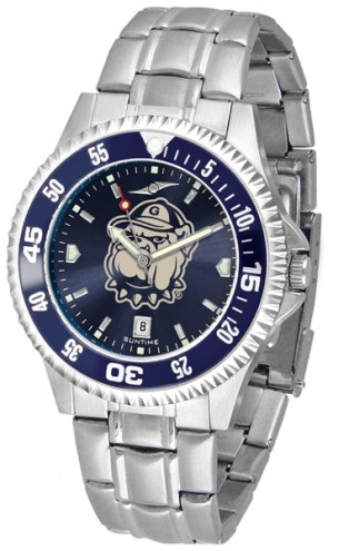 Georgetown Hoyas Competitor Steel AnoChrome Color Bezel Men's Watch
