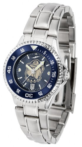 Georgetown Hoyas Competitor Steel AnoChrome Women's Watch - Color Bezel