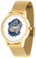 Georgetown Hoyas Gold Mesh Statement Watch