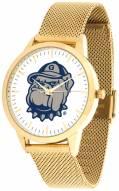 Georgetown Hoyas Gold Mesh Statement Watch