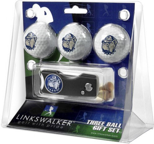 Georgetown Hoyas Golf Ball Gift Pack with Spring Action Divot Tool