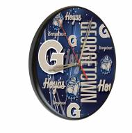 Georgetown Hoyas Digitally Printed Wood Clock