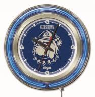 Georgetown Hoyas Neon Clock