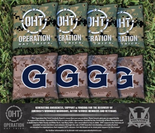 Georgetown Hoyas Operation Hat Trick Cornhole Bag Set