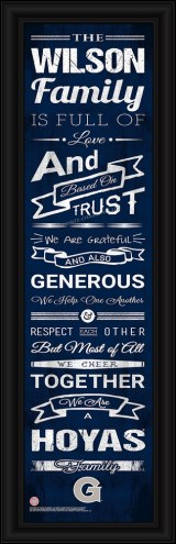 Georgetown Hoyas Personalized Family Cheer Framed Art