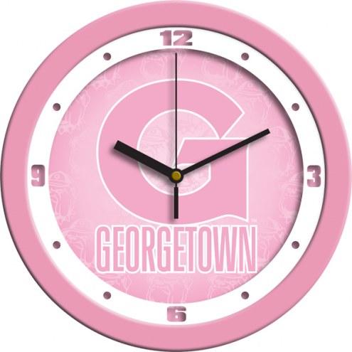 Georgetown Hoyas Pink Wall Clock