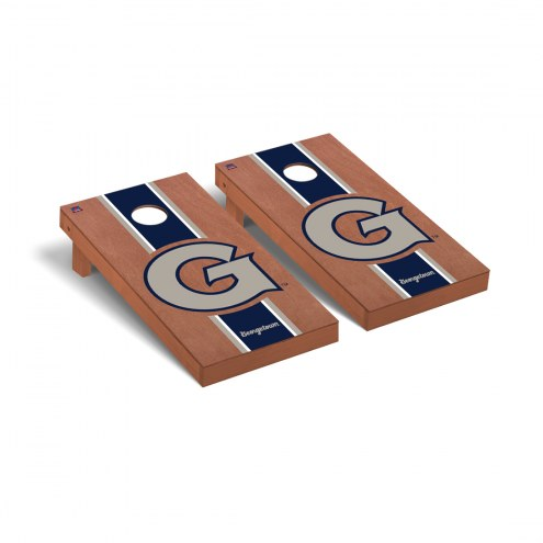 Georgetown Hoyas Rosewood Stained Cornhole Game Set
