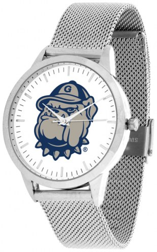 Georgetown Hoyas Silver Mesh Statement Watch