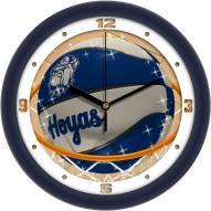 Georgetown Hoyas Slam Dunk Wall Clock