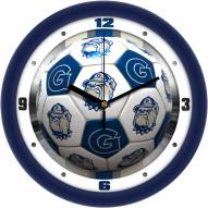 Georgetown Hoyas Soccer Wall Clock