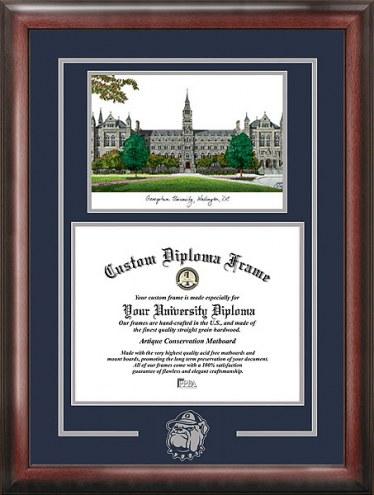 Georgetown Hoyas Spirit Diploma Frame with Campus Image