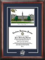 Georgetown Hoyas Spirit Diploma Frame with Campus Image