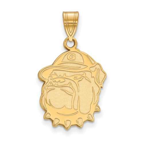 Georgetown Hoyas Sterling Silver Gold Plated Large Pendant
