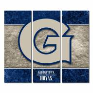 Georgetown Hoyas Triptych Double Border Canvas Wall Art