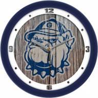 Georgetown Hoyas Weathered Wood Wall Clock