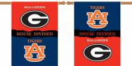"Georgia / Auburn Premium House Divided 28"" x 40"" Two-Sided Banner"