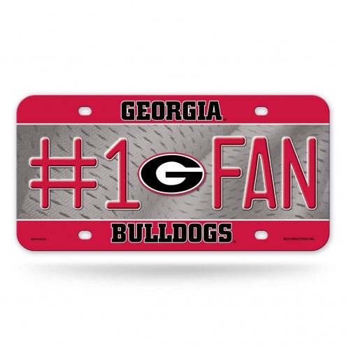 Georgia Bulldogs #1 Fan License Plate