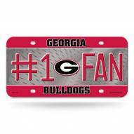 Georgia Bulldogs #1 Fan License Plate