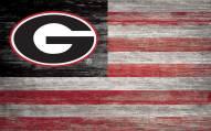 "Georgia Bulldogs 11"" x 19"" Distressed Flag Sign"