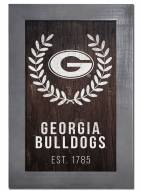 "Georgia Bulldogs 11"" x 19"" Laurel Wreath Framed Sign"