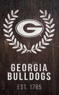 "Georgia Bulldogs 11"" x 19"" Laurel Wreath Sign"