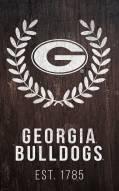 "Georgia Bulldogs 11"" x 19"" Laurel Wreath Sign"