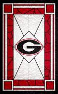 """Georgia Bulldogs 11"""" x 19"""" Stained Glass Sign"""