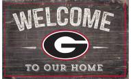 """Georgia Bulldogs 11"""" x 19"""" Welcome to Our Home Sign"""