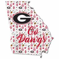 "Georgia Bulldogs 12"" Floral State Sign"