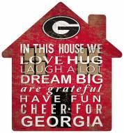 "Georgia Bulldogs 12"" House Sign"