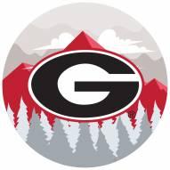 "Georgia Bulldogs 12"" Landscape Circle Sign"