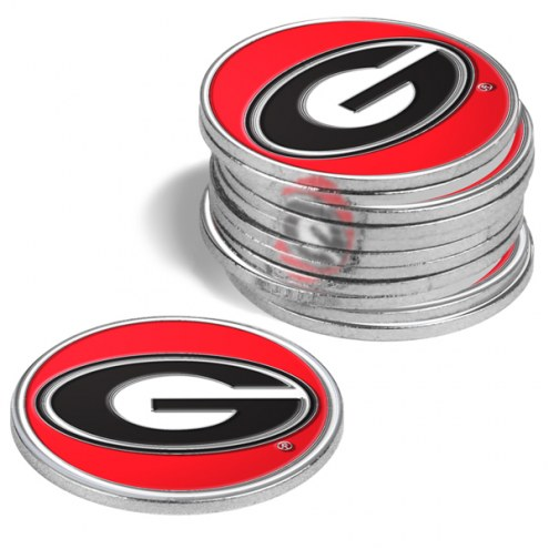 Georgia Bulldogs 12-Pack Golf Ball Markers