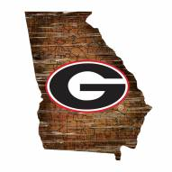 "Georgia Bulldogs 12"" Roadmap State Sign"